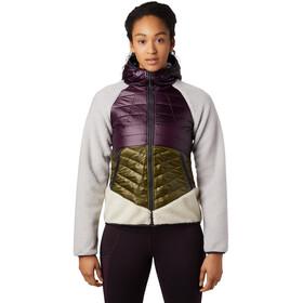 Mountain Hardwear Altius Hybrid Capuchon Jas Dames, violet/groen